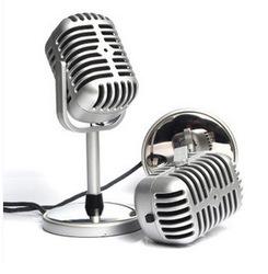 电容麦克风 卡拉OK复古麦克风 电脑录歌 K歌专用话 电脑话筒语音