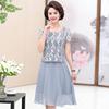 三四十岁中年女人夏装显年轻OL气质职业套裙收腰蕾丝长裙