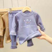 儿童保暖内衣裤套装男童秋衣秋裤全棉宝宝加绒加厚婴儿服女童纯棉