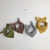 双面带一条顶两条~韩版儿童格子方巾男女孩小围巾棉麻柔软领巾潮