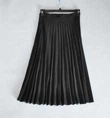 春秋款时尚百搭侧拉链高腰 百褶半身裙