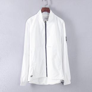 坚系列秋冬装撤柜男装白色韩版拉链立领休闲夹克外套 70622