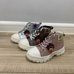 斯乃纳童鞋2020冬季女童保暖棉皮鞋真皮马丁靴SP0460025