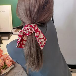 法式复古飘带头绳韩国少女发带绑发扎马尾皮筋发绳大肠圈发圈头饰