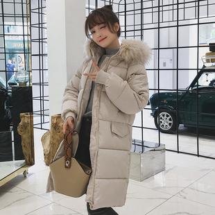 冬季棉服女加厚宽松反季中长款bf学生冬装面包服棉衣外套
