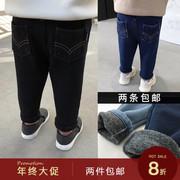辰辰妈婴童装男宝宝加绒牛仔裤1-3岁儿童冬装男童打底裤加厚保暖