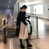 法式复古裙两件套山本打底针织连衣裙子女2019春装中长款过膝