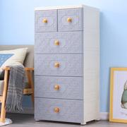 加厚50cm抽屉式收纳柜子塑料多层五斗柜家用儿童衣柜储物柜