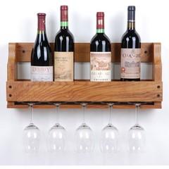 宜家无印良品酒架壁挂挂杯 挂墙酒架橡木实木酒架红酒架 家居旗舰