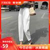 哈伦裤女夏季薄款棉麻裤子2019九分白色宽松萝卜裤百搭裤