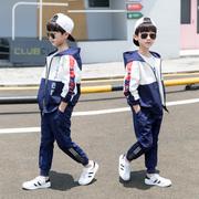 儿童装男童冬款装套装2021中大童10男孩春秋加绒加厚韩版12岁