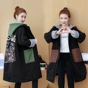 大码牛仔棉衣女装冬季韩版宽松时尚休闲中长款羊羔毛加厚外套