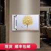 电表箱装饰画遮挡现代简约可推拉客厅浮雕挂画手绘立体油画配电箱