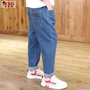 米西果儿童裤子长裤2019春季男童牛仔裤帅气潮童装中大童