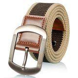 锌合金针扣加厚帆布腰带