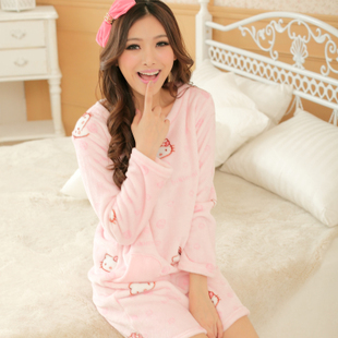 Xxxn www http://www.ordersmax.com/p-15862146017-11.11kitty-Cute-Cartoon-Round-Collar-Long-Sleeve-Lingerie-Pajamas.html