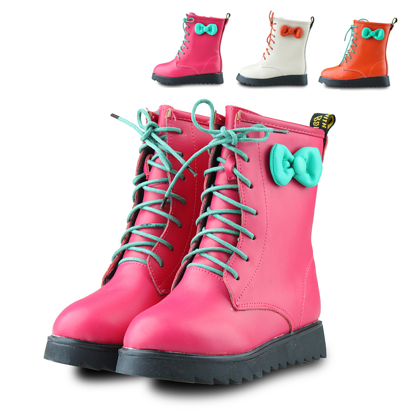 snow boots leather shoes for girls
