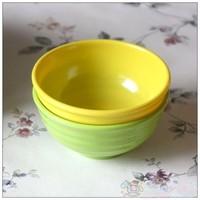 特 实用家居用品 彩色餐具美耐瓷 波纹碗/饭碗(小号,2色)