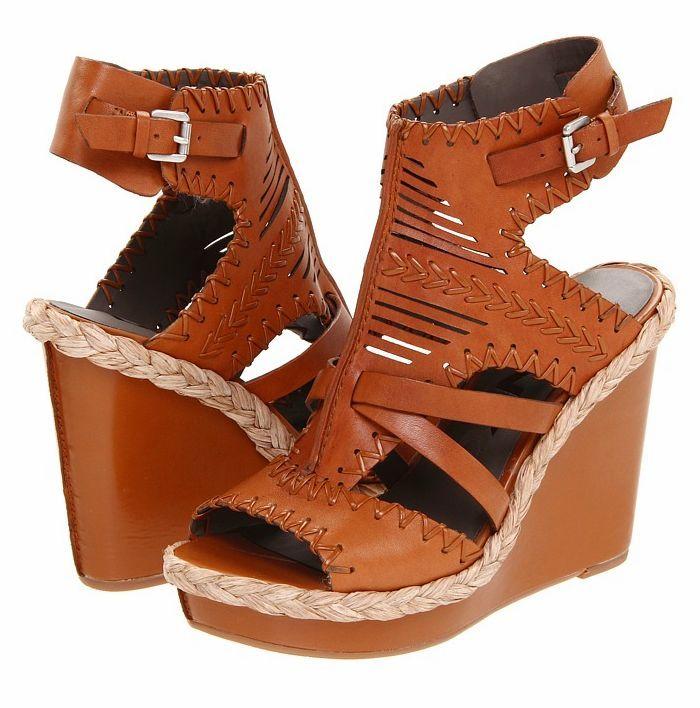 Босоножки 2013 Новый американский классический Римский смелые клинья босоножки размер воды обувь кожа клинья 39-43 м На высоком каблуке (6- 8 см) Верхний слой из воловьей кожи