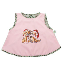 2-piece Summer Sleeveless Baby Eat Clothes Waterproof Anti-dressing Gown Cartoons For Children to At Bib