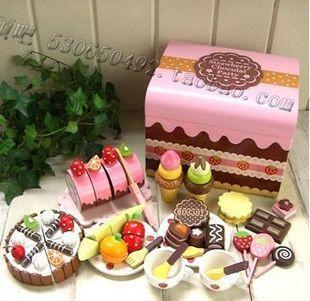 Детские кухонные принадлежности 新年礼品mother garden巧克力箱 益智过家家 厨房儿童玩具 切切看