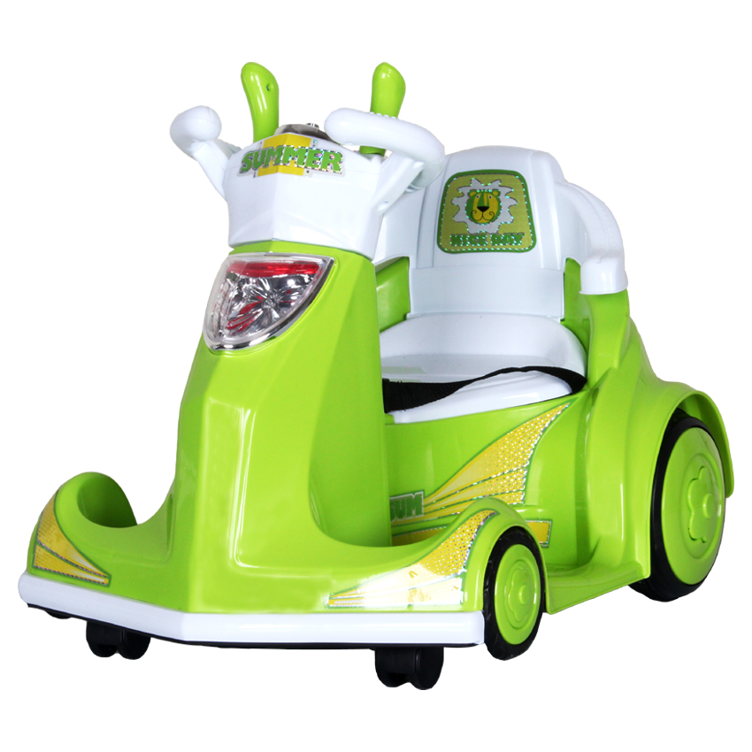Electric vehicle for children children go kart car battery double drive can be rotated 360 degrees four round little tiger baby sitting