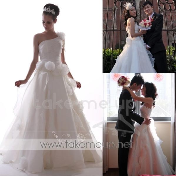 Свадебное платье EI-LA-07 Атлас, сатин Небольшой шлейф