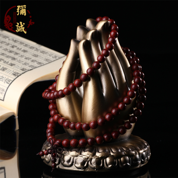 Mi Cheng authentic Indian lobular rosewood rosary beads bracelet 108 male and female models full sandalwood bracelets