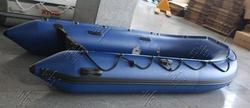【艇进中源】出口3.8M 充气船钓鱼船救生船橡皮艇 冲锋舟铝合金地板