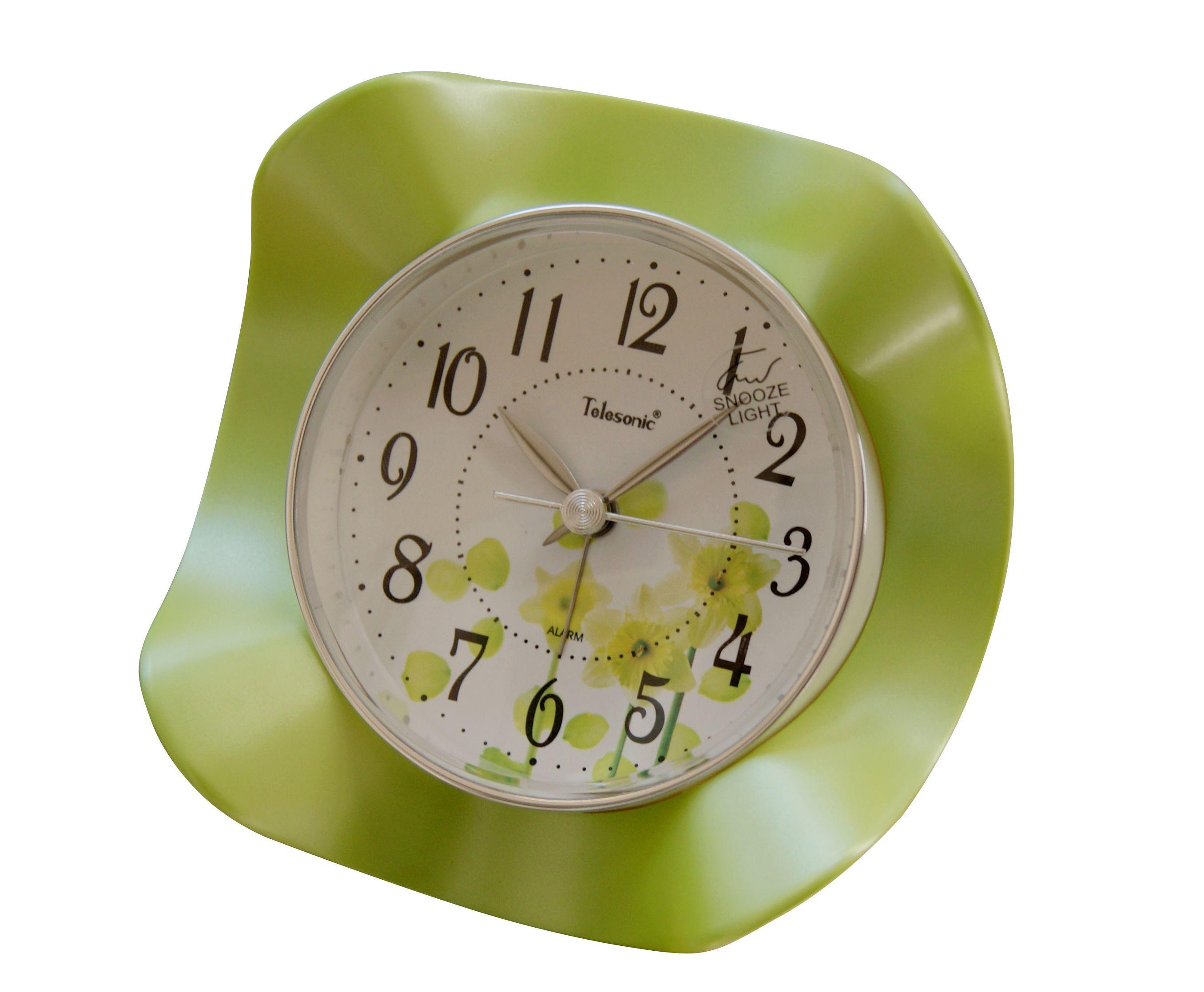 天王星超可爱花朵静音A6936创意个性夜灯4寸卡通电子闹钟包邮