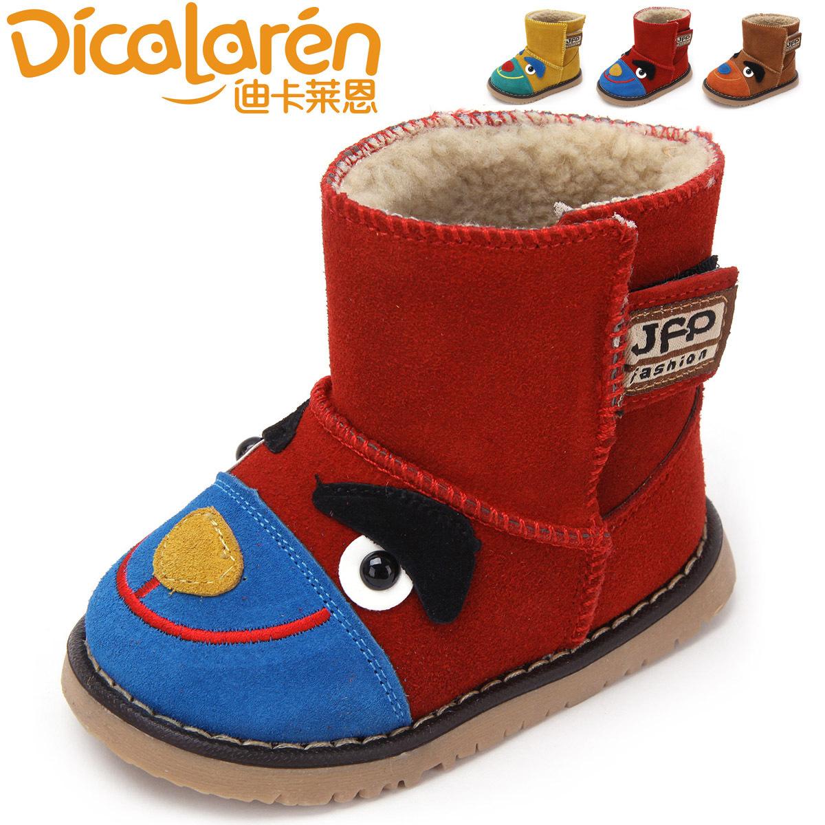品牌正品靴子男童女童卡通动物时尚百搭春秋季软底磨砂雪地靴小童图片