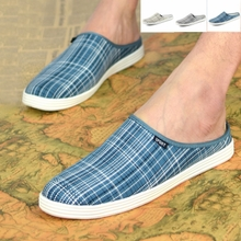 Conation summer new men plaid slippers sandals shoes wet shoes, Japan and South Korea version of half drag YC306 slippers male tide