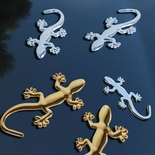 Three-dimensional gecko spike bumper sticker affixed metal gecko car stickers car decoration Post - Bihuo, evil spirits