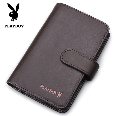 Playboy genuine cow leather men's wallet bag upscale Apple phone package pickup triple