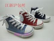 一休春款经典牛仔儿童帆布鞋高帮单鞋女童运动男童鞋跑鞋