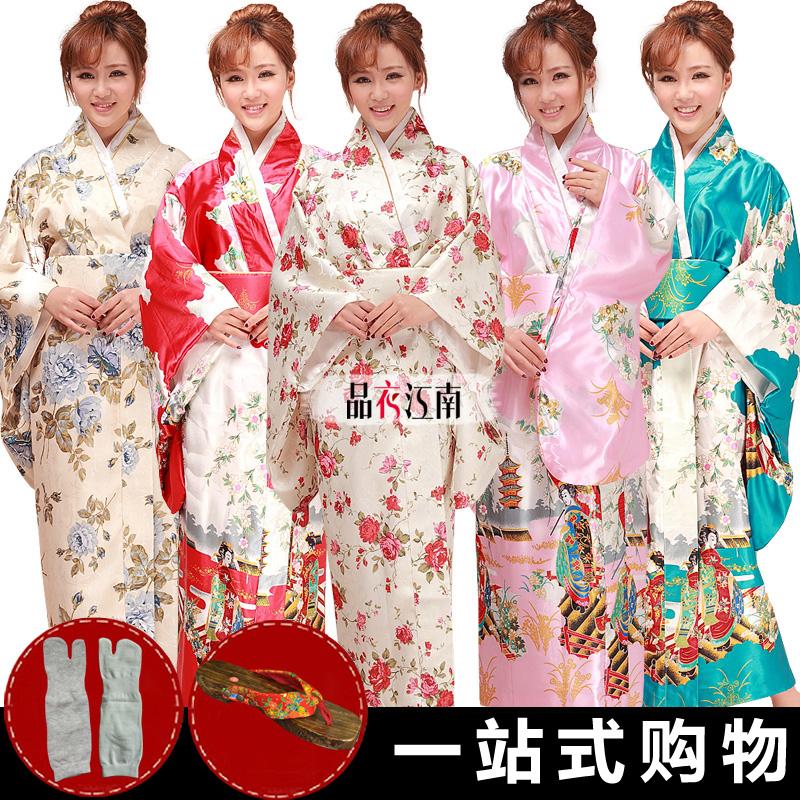 日本和服浴衣 女日式长改良和服cos正装 制服诱惑影楼写真演出服