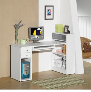 Simple and stylish white compact desk + computer desk bookcase bookcase bookcase combination ledge can be customized
