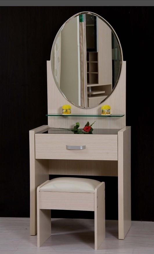 Туалетный столик Дуб белый * состав * включая * шкаф зеркальный белый дуб * 3715 #* H4