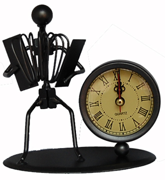 钟摆设金属座钟铁艺工艺品模型咖啡厅男生摆设创意礼物家居摆件