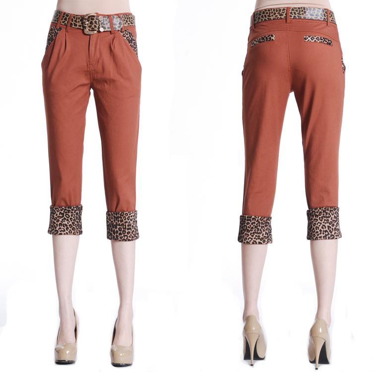 Женские брюки Tink Yu Chang 8672 2012 Брюки чуть выше щиколотки Узкие брюки-карандаши Дикие должны быть удалены