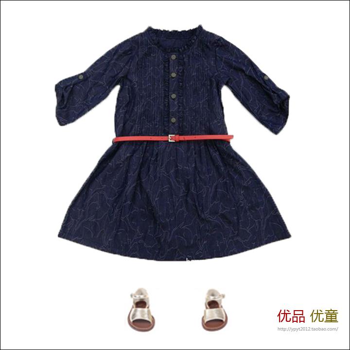 детское платье OTHER 904098 А-образная юбка Весна-осень Хлопок (95 и выше)