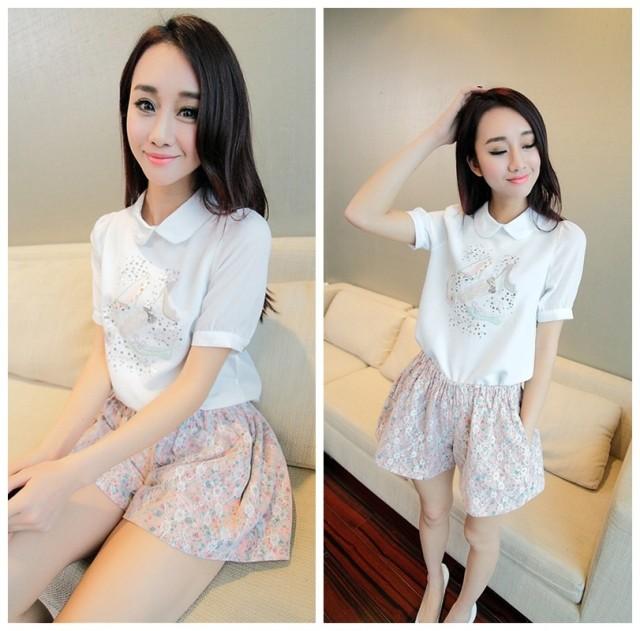 женская рубашка Fiber Yu dress 6616 2014