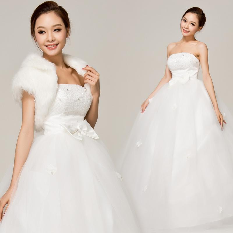 虎丘 新款2013 韩版  结婚季时尚性感抹胸婚纱 H12119 亮片珠饰 绑带款