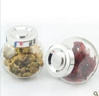 宜家密封扁鼓喜糖罐头果酱蜂蜜瓶调味椒盐调料瓶玻璃糖果储物罐