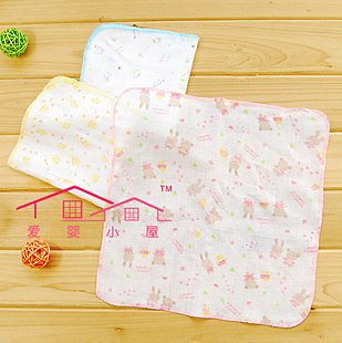 Baby Infant double cabin a collective name for cotton printing small hood/baby saliva towel/small handkerchief absorb sweat towel