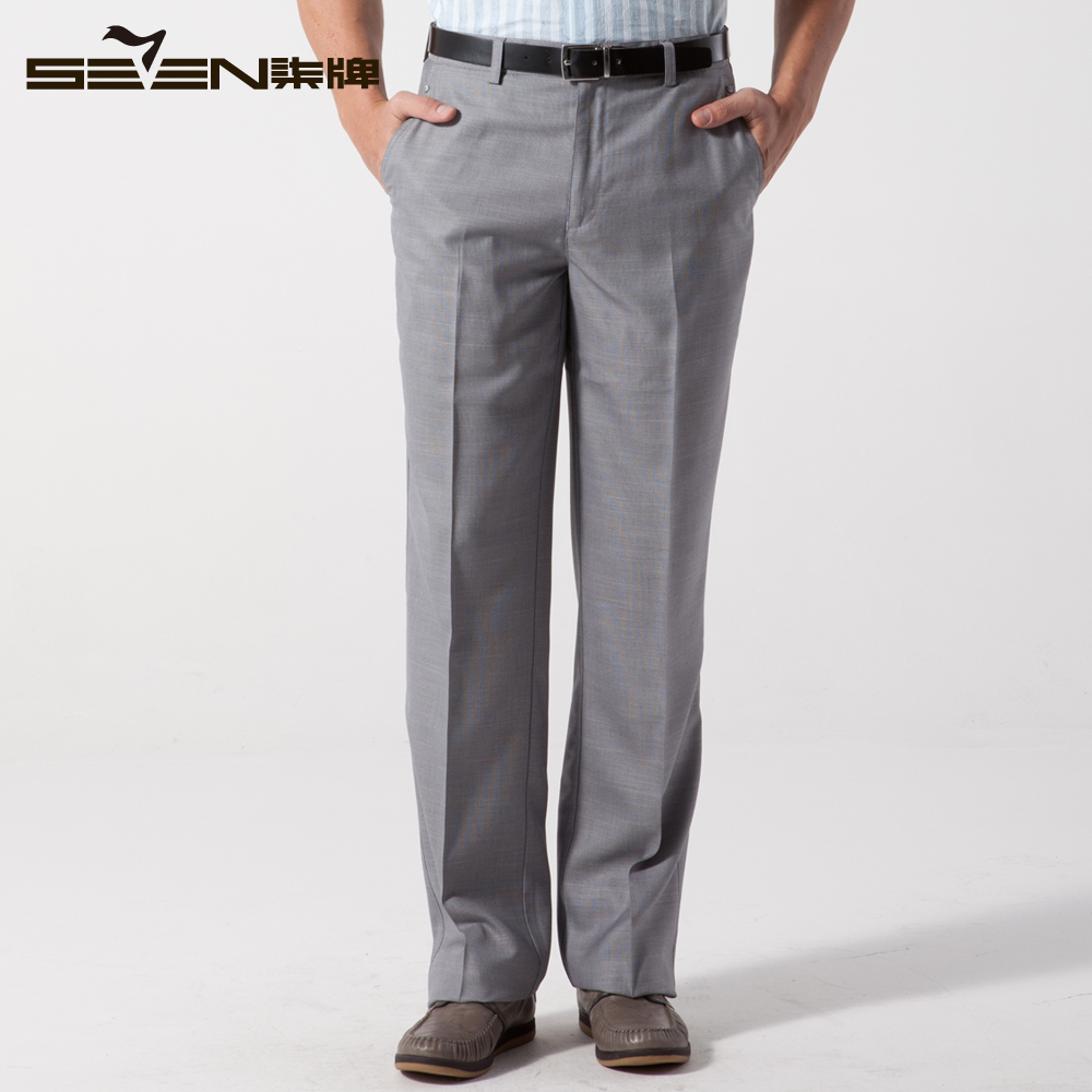 Классические брюки Qipai 70b707085 Прямые брюки Повседневный стиль