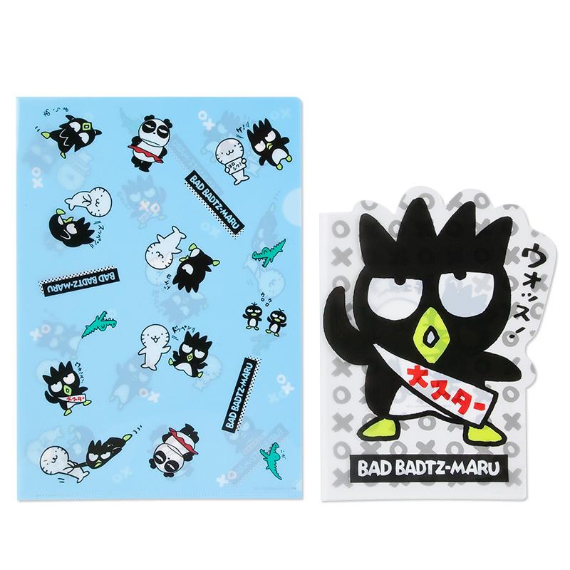 日本sanrio正品badtz-maru酷企鹅xo b5/a4快劳夹两个装图片