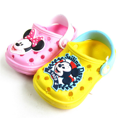 Part shipping summer sandals authentic Disney Mickey baby boys and girls and young children hole shoes, sandals and slippers