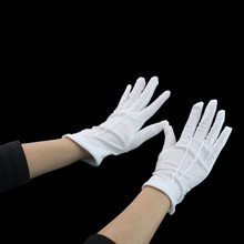 The military parade gloves Hip-hop white gloves The two-step white gloves Buckle adjustable COSPLAY
