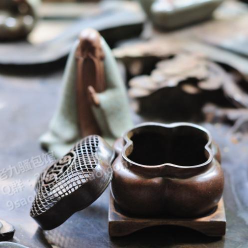 Имитированные антикварные изделия «Сладкий аромат печь» аромат аромат/аромат/аромат расширение меди Бегония небольшая плита с четырьмя Qiaosheng Чэнь